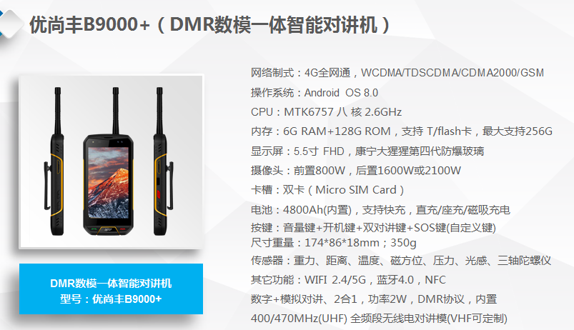 4G可视对讲机公网对讲机